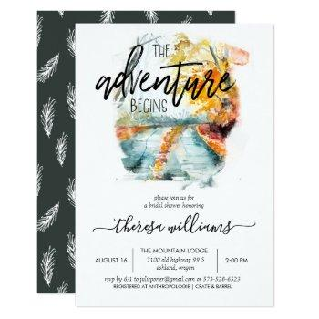 rustic autumn forest | bridal shower invitation