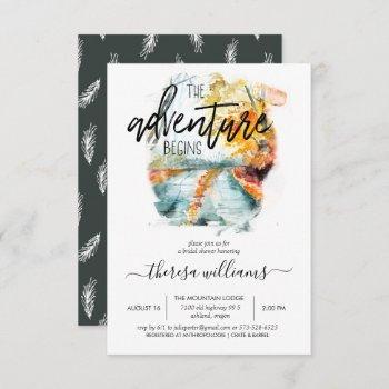 rustic autumn forest | bridal shower invitation