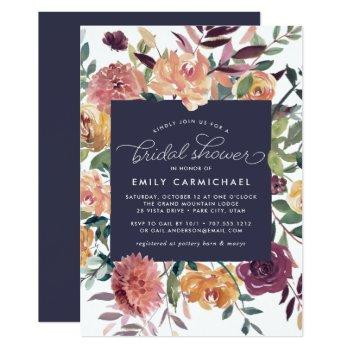 rustic bloom bridal shower invitation