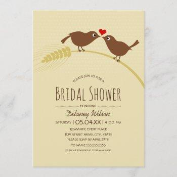 rustic bridal shower | country love birds template