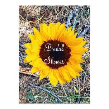 rustic camo sunflower bridal shower invitations