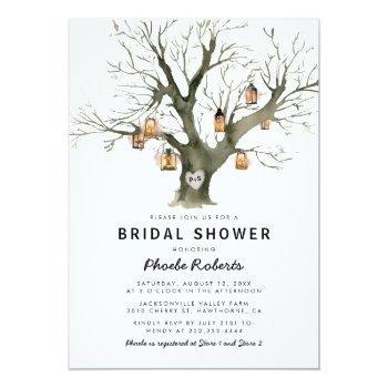 rustic country oak tree bridal shower invitation