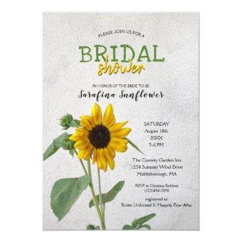 rustic country sunflower / bridal shower invitation