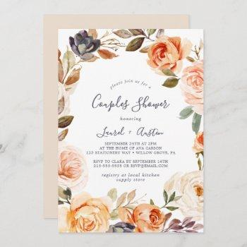 rustic earth florals couples shower invitation