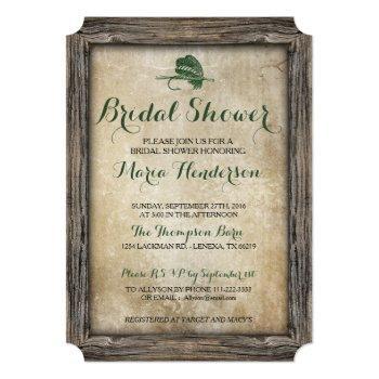 rustic fishing lure bridal shower invitation