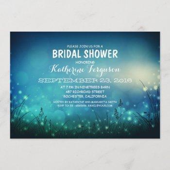 rustic garden lights romantic bridal shower invitation