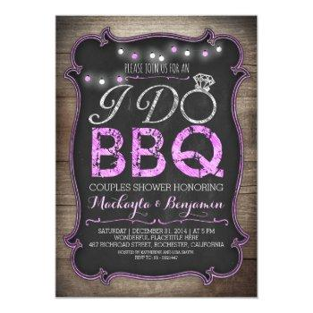 rustic i do bbq couples shower invitation
