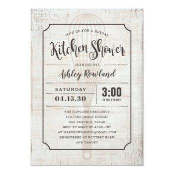 rustic kitchen bridal shower invitations