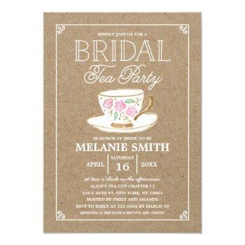 rustic modern bridal tea party   bridal shower invitation