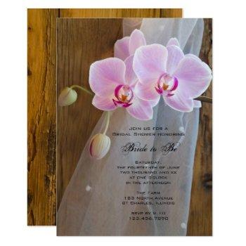 rustic orchid elegance ranch bridal shower invite