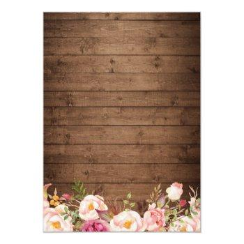 Rustic String Lights Lace Floral Bridal Shower Invitation Front View