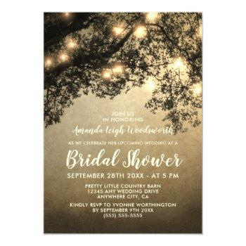 rustic vintage tree bridal shower invitations