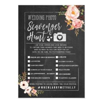 rustic wedding photo scavenger hunt i spy game invitation