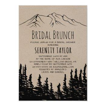rustic woodsy mountain bridal brunch invitation