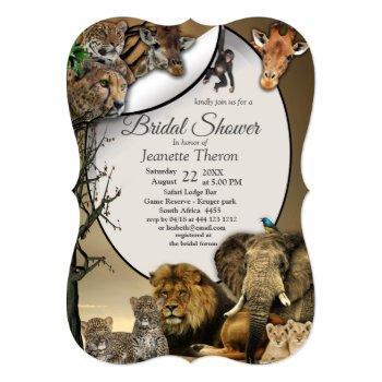 safari outdoor bridal shower invitation