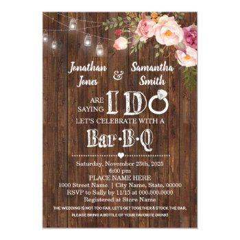 saying i do barbeque stock the bar wedding shower invitation