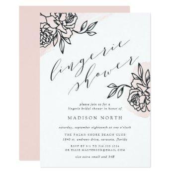 secret garden lingerie shower invitation