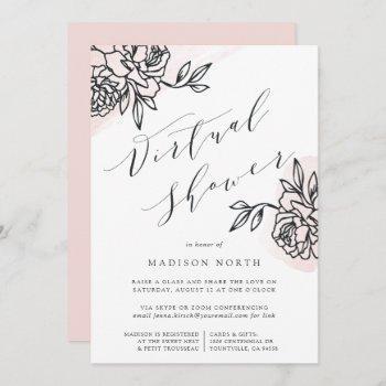 secret garden virtual bridal or baby shower invitation