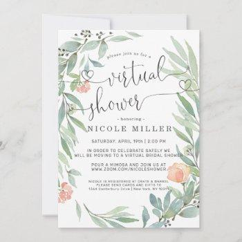 serene botanical | wild meadow virtual bridal