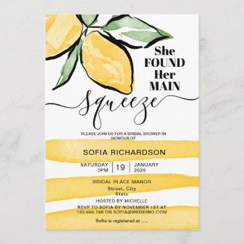 she found her main squeeze lemon boho summer invitation