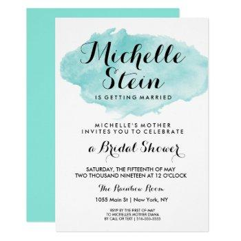 she's getting married bridal shower invitation