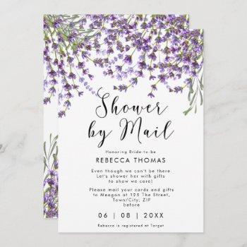 shower by mail lavender bridal shower invitation