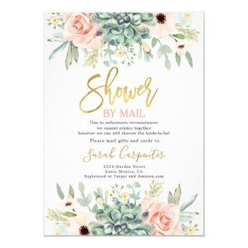 shower by mail succulents bridal shower invitation