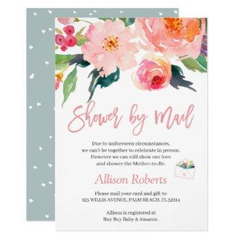 shower by mail whimsical watercolor garden floral invitation
