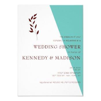 shower minimalist teal geometric non-binary invitation