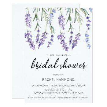 simple and elegant lavender bridal shower invitation