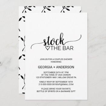 simple black calligraphy stock the bar invitation