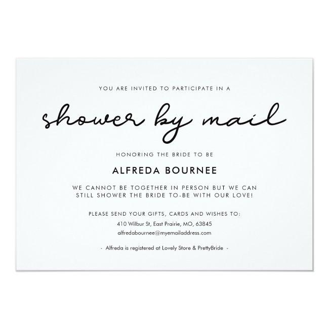 Simple Bridal Shower By Mail Invitation
