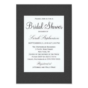 simple elegant black and white designelegant simpl invitation