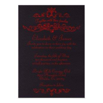 simple luxury black and red wedding invitations
