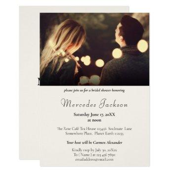simple modern and stylish with initial wedding invitation