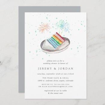 slice of love   wedding shower invitation