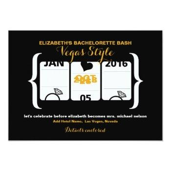 slot machine bachelorette party in vegas invitation