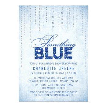 something blue bridal shower invitation