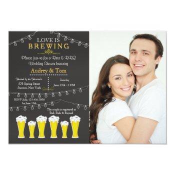 something's brewing photo wedding shower invitatio invitation