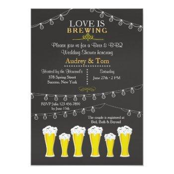 something's brewing wedding shower invitation
