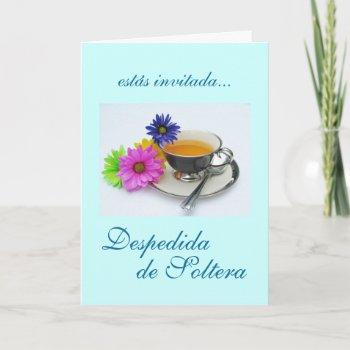 spanish: despedida de soltera / bridal shower invitation