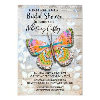 spring fling butterfly bridal shower invitation