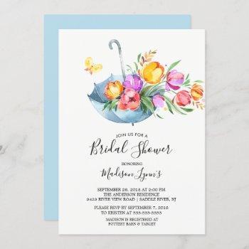springtime tulips bridal shower invitation