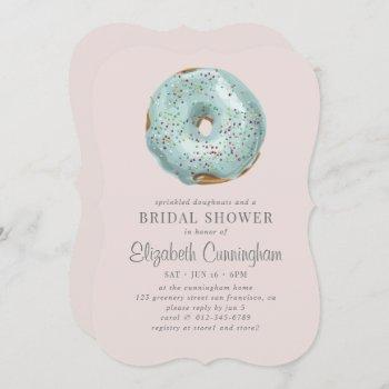 sprinkled doughnuts and a bridal shower invitation