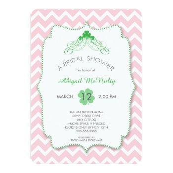 st patrick's day bridal shower irish invites