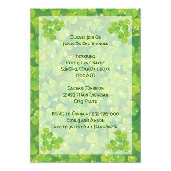 st. patrick's day irish wedding bridal shower invitation