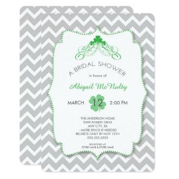 st patrick's day theme bridal shower irish invites