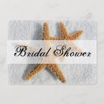 starfish sand beach ocean theme bridal shower invitation