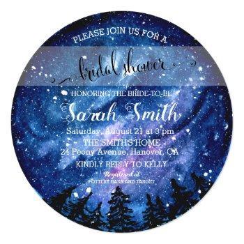 starry night sky bridal shower invitation
