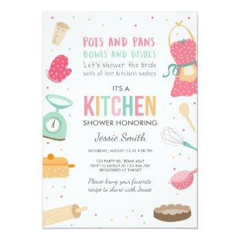 stock the kitchen bridal shower invitation cooking